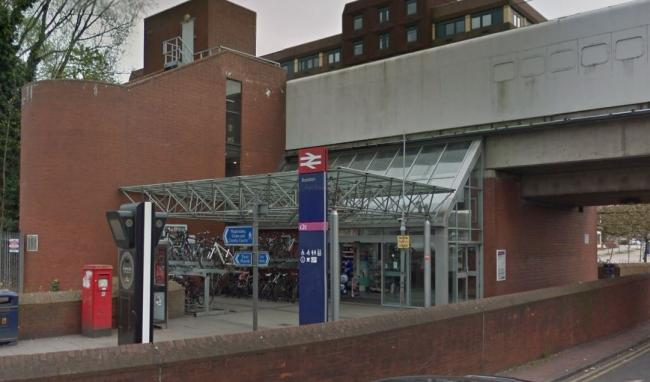 Two men left injured after attack at busy train station