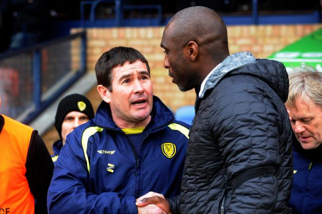 Winner - Burton boss Nigel Clough (left) with Shrimpers chief Sol Campbell