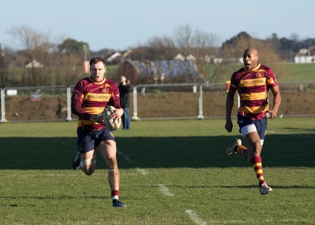 Try scorers - Greg Bannister (left) and Myles Bean both touched down for Westcliff   Picture: TIM BROWNE