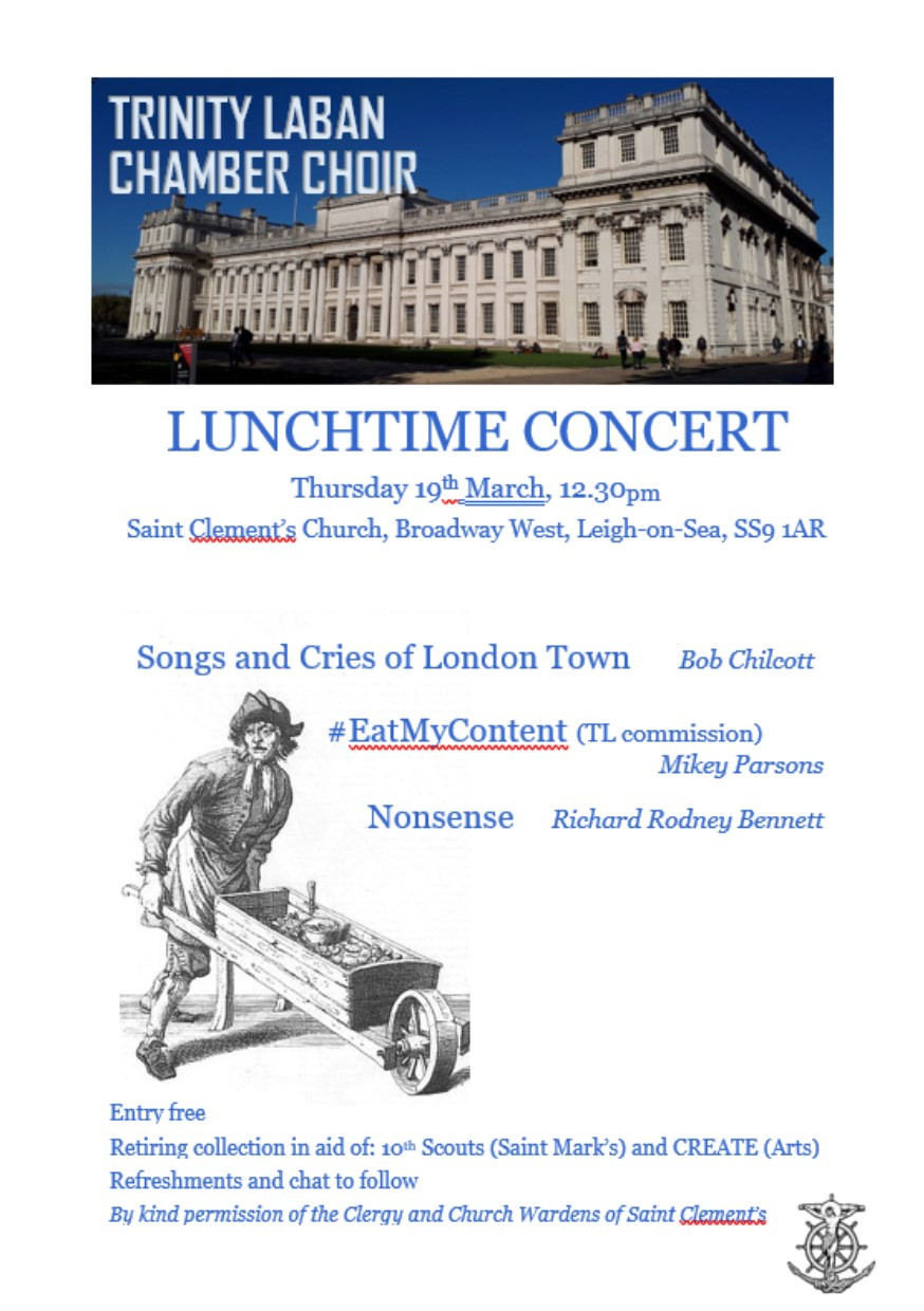 Trinity Laban Chamber Choir Lunchtime Concert