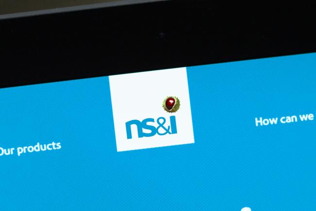 The NS&I logo on a tablet