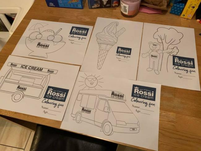 Competition - the colouring sheets from Rossi