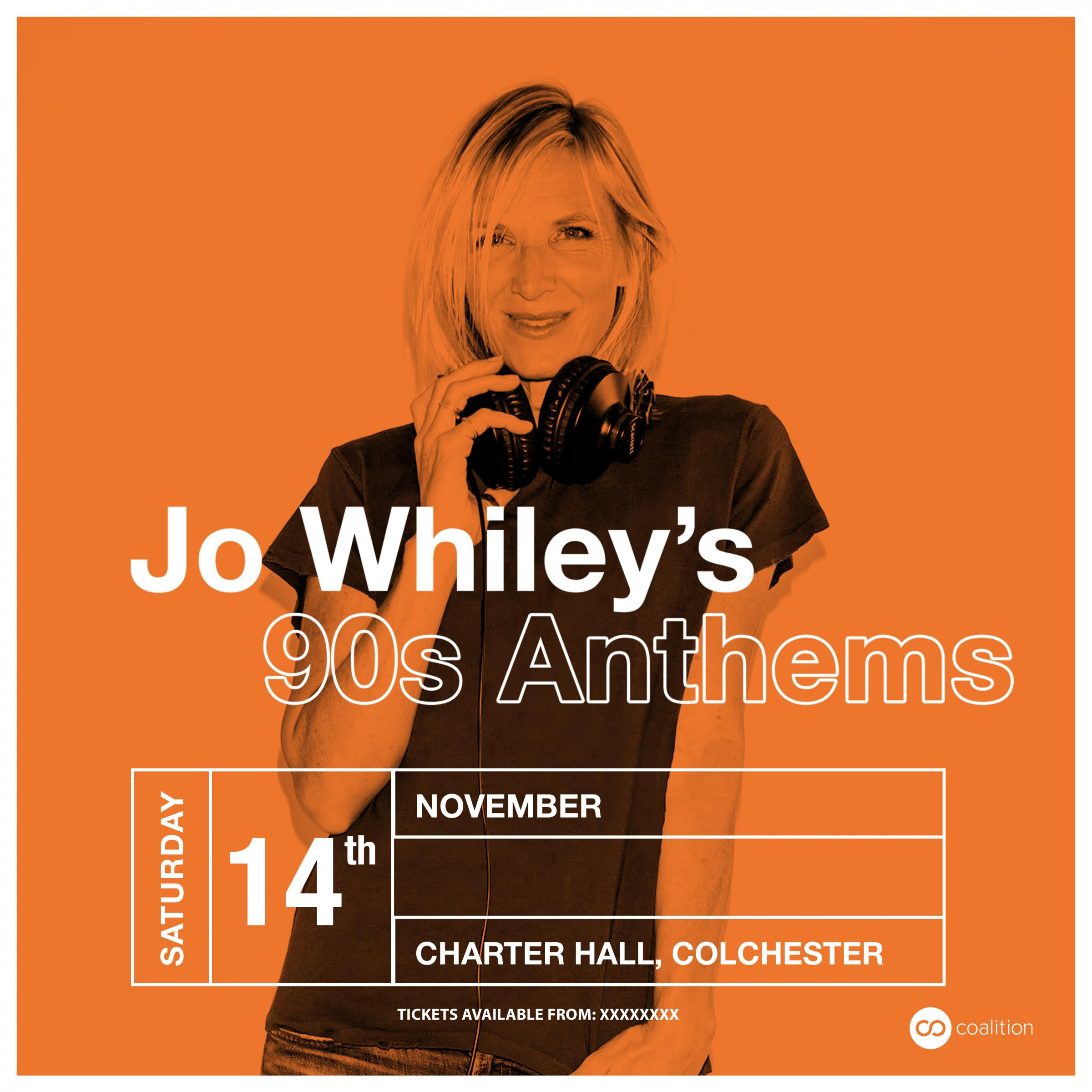 Jo Whiley's 90's Anthems 2020 UK Tour