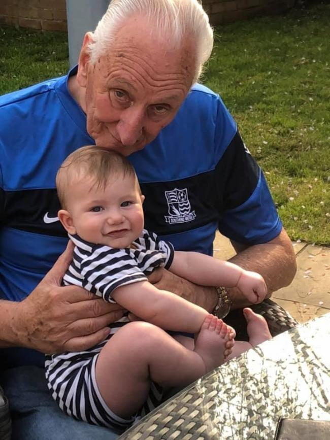 Never forgotten - Tributes have been paid to Mike Davis, seen here with his great grandchild Oliver