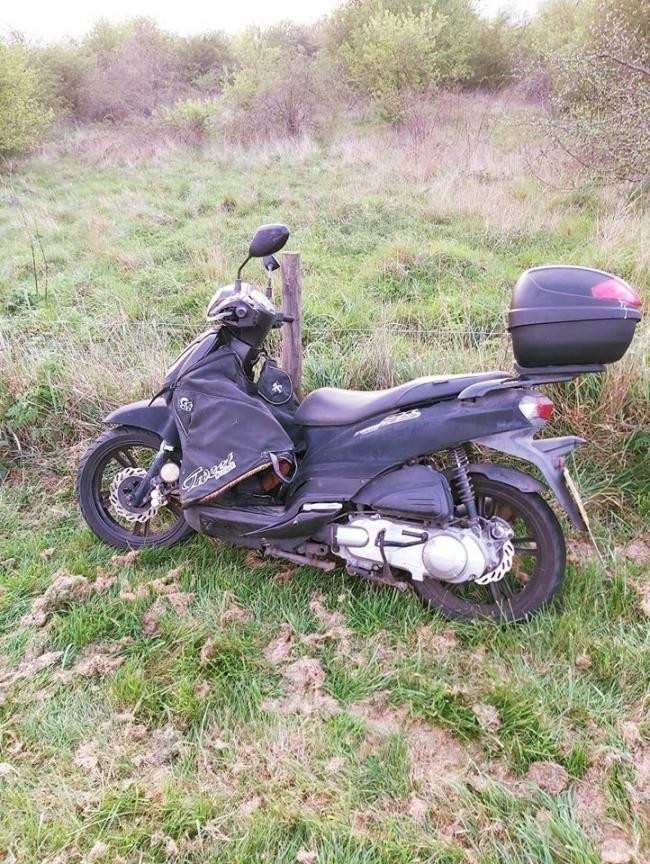 The stolen moped on Canvey