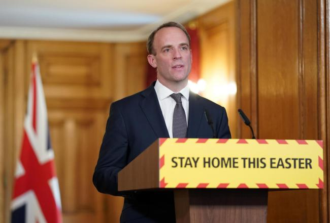'Stay home' - Mr Raab at today's press conference