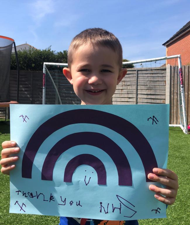 Hero - Liam Southwood has raised £1,800 for the NHS
