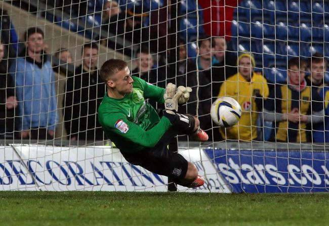 Good save - Daniel Bentley helped Blues win a penalty shoot-out at Oxford United back in 2013