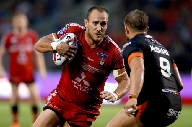 Lee Mossop, left, is staying at Salford