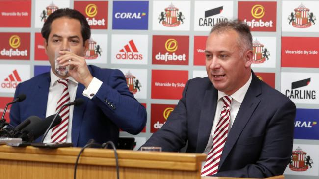 Making plans - the co-owner of League One side Sunderland Charlie Methven (left)