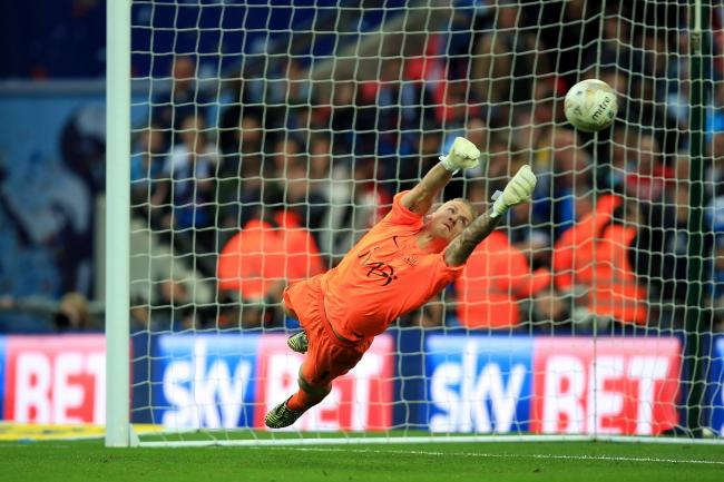 Key moment - Daniel Bentley saves Sam Wood's penalty