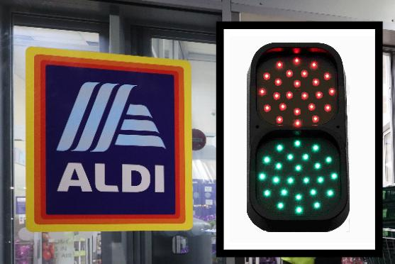 Aldi launches new traffic light system in stores to keep shoppers safe