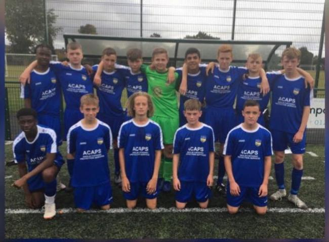 Fundraisers - Concord Rangers' under 15 side have raised close to £1,600 for the Southend Hospital charity