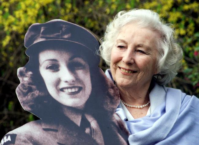 Dame Vera Lynn in the garden of the Savoy Hotel, after she was named personality of the century in a nationwide poll in 2000. The Forces sweetheart Dame Vera Lynn has died at the age of 103. Picture: PA WIRE