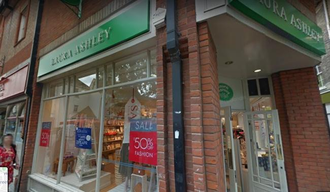 Closing - Laura Ashley in Colchester is shutting down after a massive closing down sale