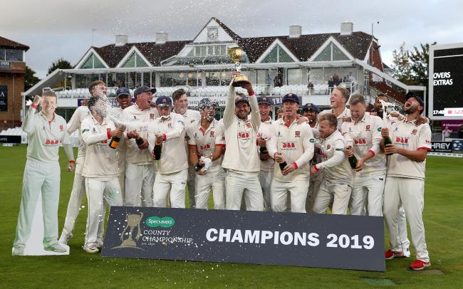 Back in training - defending champions Essex