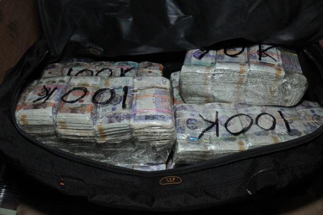 Stack of drug money seized in Essex