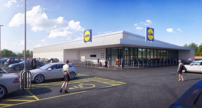 A CGI of the new Lidl store