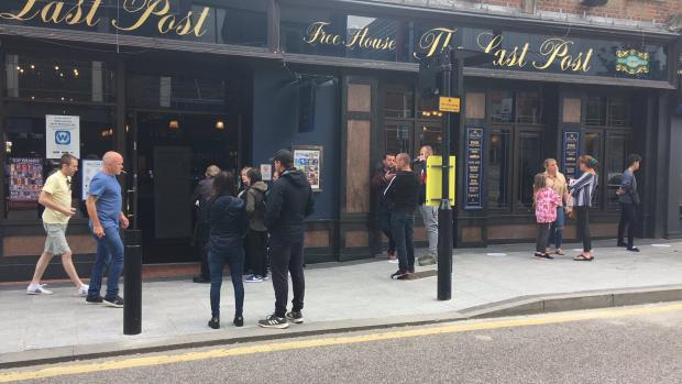 Echo: The scene outside Wetherspoons' The Last Post in Southend