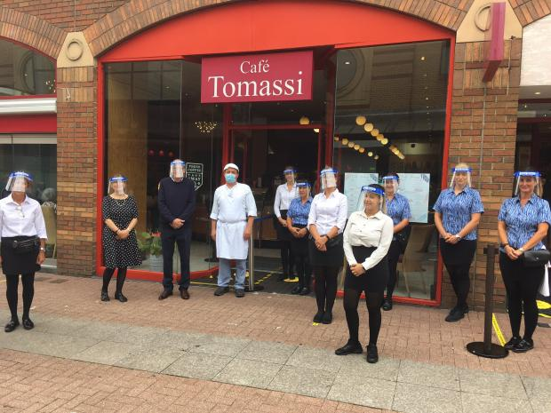 Echo: Anthony Tomassi and his team at Tomassi's in Southend High Street