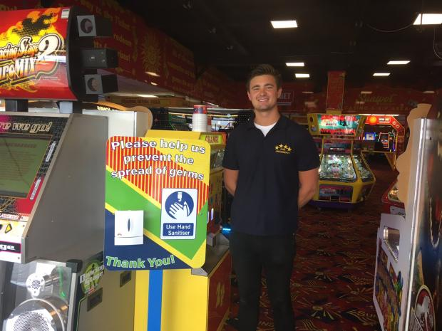Echo: John Joseph, at Star Amusements in Southend who has developed a QR code to help test and trace