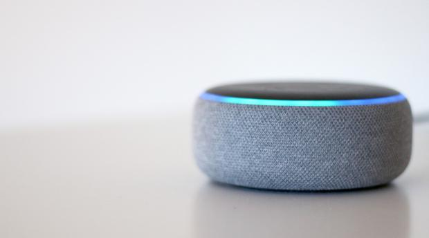 Echo: The Echo Dot (third-generation) is one of the smallest Amazon Echo smart speakers. Credit: Reviewed / Betsey Goldwasser