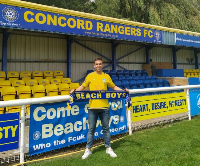 Happy - midfielder Odei Martin has joined Concord Rangers from Heybridge Swifts         Picture: PAUL RAFFETY