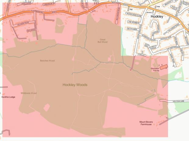 Echo: The area covered by the dispersal zone