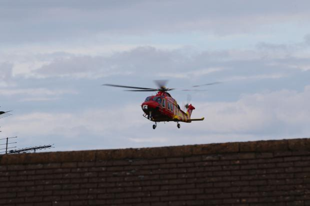 The air ambulance in Hockley