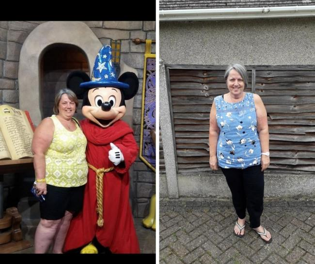 Pleased - Julie Skinner before and after her weight loss