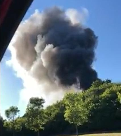 Huge plumes of smoke seen amid reports of huge woodlands fire