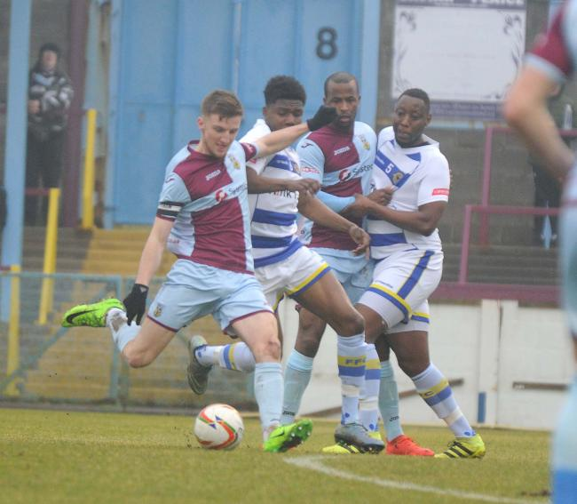 Mixed feelings - for Weymouth midfielder Jake McCarthy      Picture: FINNBARR WEBSTER/F19471