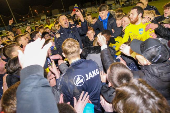 Getting ready - Concord Rangers manager Danny Scopes will be leading his side into an FA Trophy semi-final this weekend