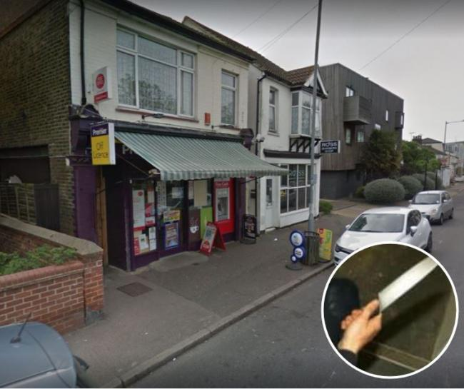 Horror as knife-wielding thug targets newsagents in daylight robbery