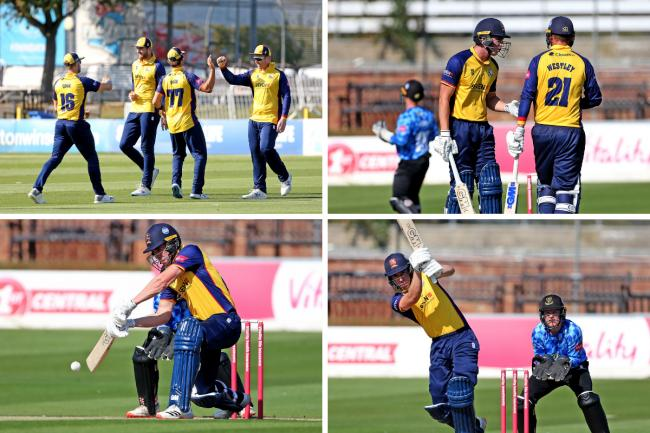 Victory - Essex Eagles beat Sussex Sharks by 12 runs    Pictures: STEPHEN LAWRENCE
