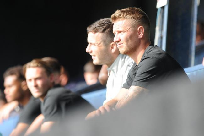 Watching on - Jason Demetriou was in the stands for Saturday's clash against Harrogate