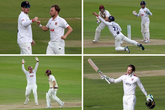 Action - Essex and Somerset are battling in out at Lord's     Pictures: GAVIN ELLIS/TGS PHOTOS