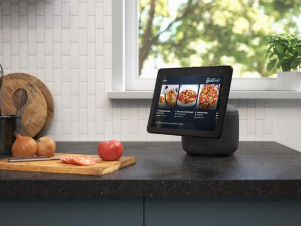 Echo: The new Echo Show screen can swivel to follow the user. Picture: Amazon