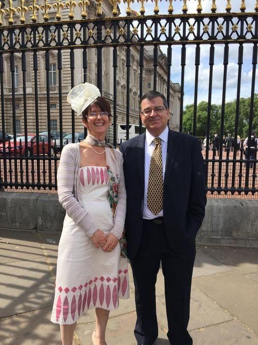Councillors - Michael and Diane at Buckingham Palace