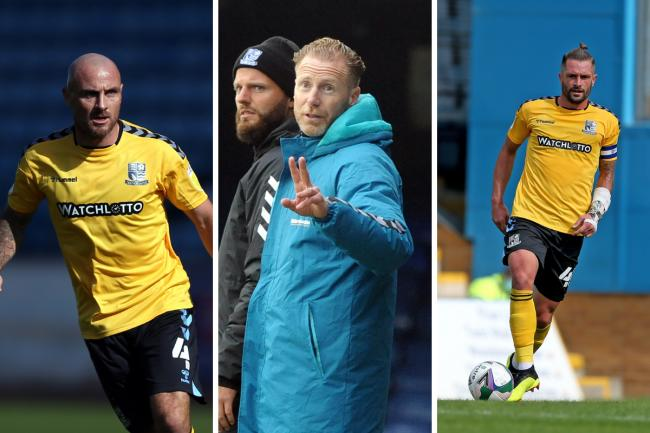 Missing - Blues boss Mark Molesley (centre) will be without Alan McCormack (left) and John White (right) this weekend
