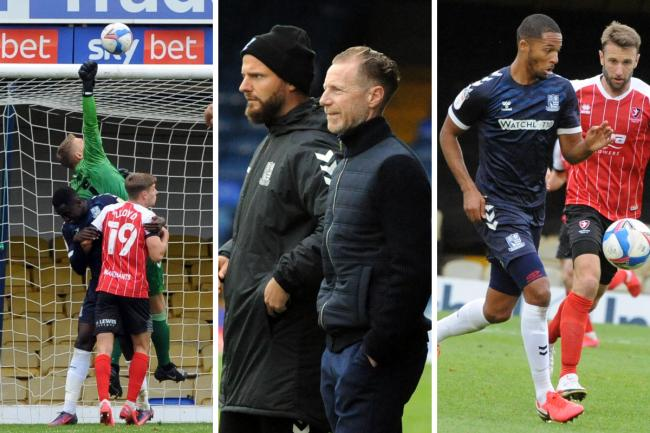 Tough afternoon - Southend United were beaten by Cheltenham Town