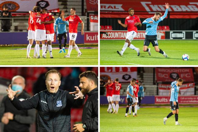 Beaten - Southend United lost 3-0 at Salford City tonight