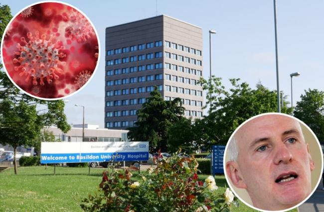 Virus - Covid-19 cases continue to rise in Essex. Pics: Basildon Hospital and Mike Gogarty