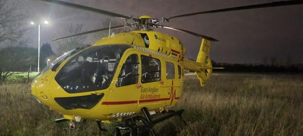 Echo: An air ambulance was called. PICTURE: AARON CHESHAM
