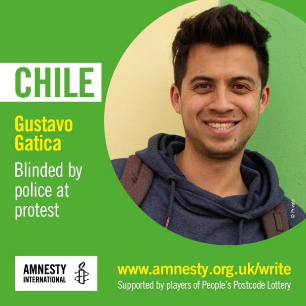 Echo: Gustavo Gatica was blinded by police at a protest in Chile