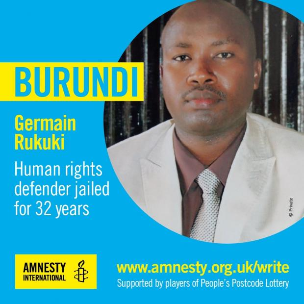 Echo: Germain Rukuki was jailed for 32 years for defending human rights in Burundi
