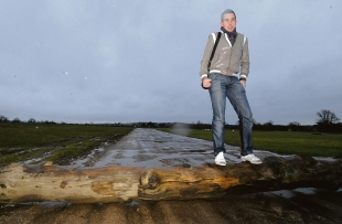 Ambitious – Phil Hutchinson on the site of his proposed festival off Barleylands Road, Billericay