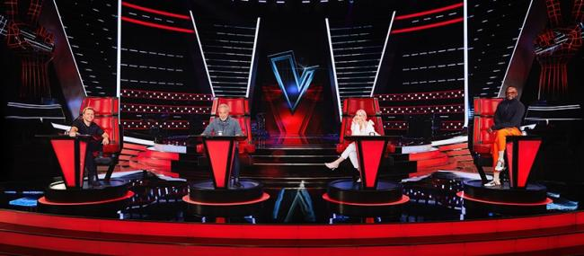 In the hotseat - Anne-Marie made her debut as a coach on The Voice UK at the weekend, joining fellow Essex star Olly Murs, Sir Tom Jones and will.i.am on the panel Picture: ITV