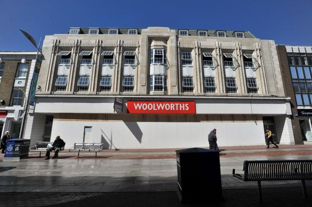 Echo: Boarded up - Woolworths on Southend High Street shortly after its closure in January 2009