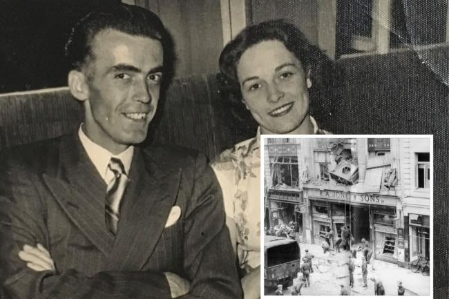 Hero - Eric Thompson saves a shopworker after Southend High Street was bombed in the Second World War